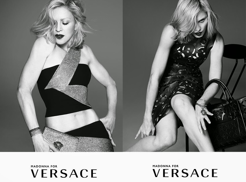 Madonna for Versace Spring 2015