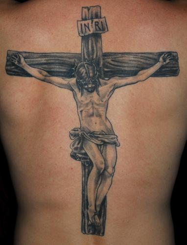 Jesus Christ On The Cross Tattoo Design