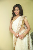 gowthami chowdary glamorous in saree-thumbnail-5
