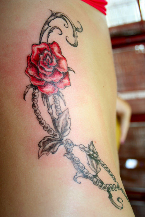 Free Tribal Rose Tattoo Designs
