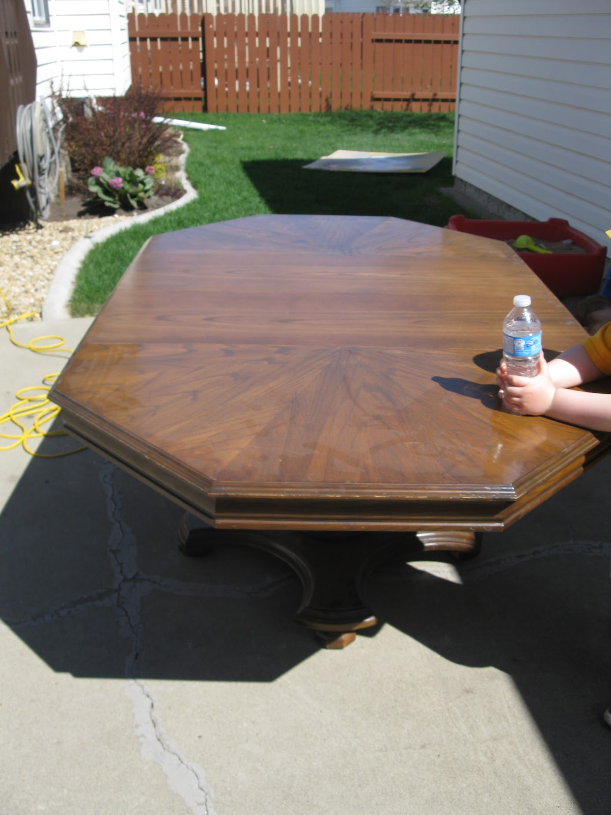 and 2 leaves - Refinishing Wood Table