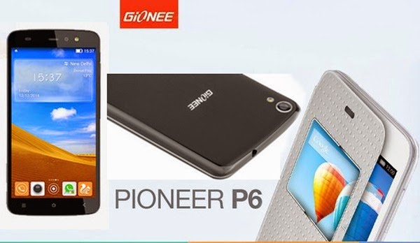 Gionee Pioneer P6: 5 inch,1.3 GHz Quad-core Android Phone Specs, Price
