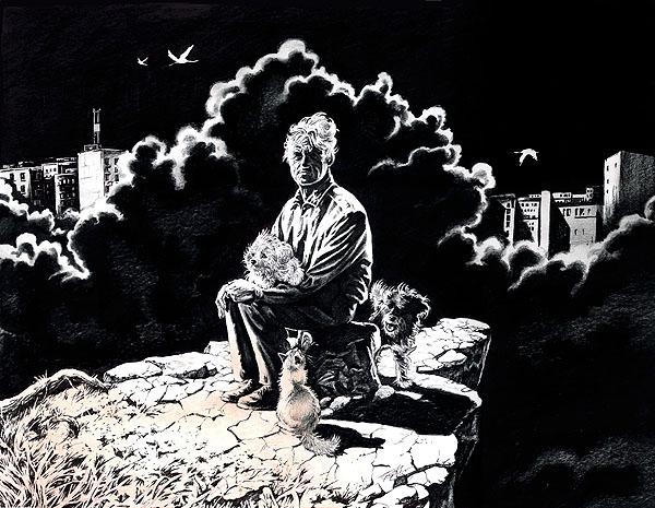 Картина Сергея Рукавишникова aka S.U.R.  Бездомная земля