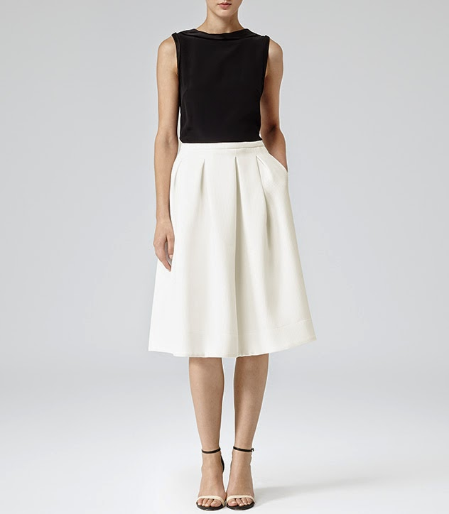 white skirt with pockets
