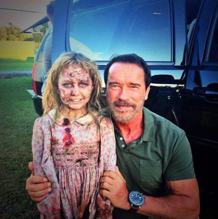 Arnold Schwarzenegger - Behind-the-Scenes Photo from Maggie