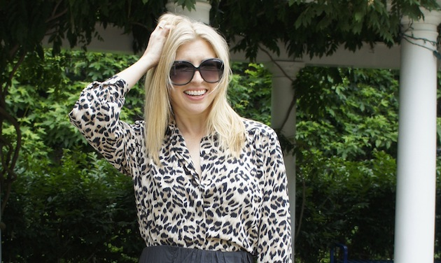 animal print fashion - leopard print blouse