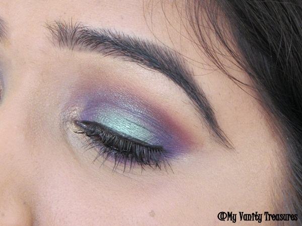 Teal and Purple smokey eyes makeup tutorial