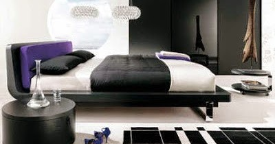 membuat dekorasi kamar tidur berwarna hitam untuk remaja