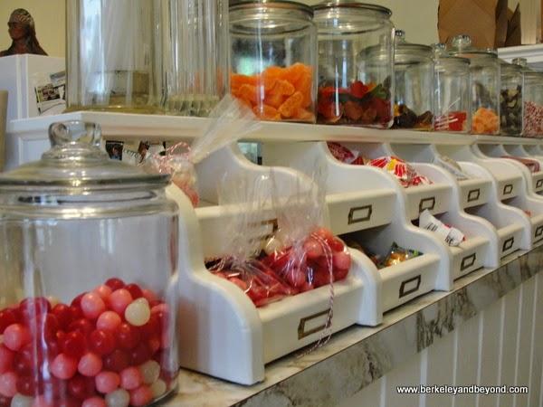 candy counter at Buffalo Chips Emporium in Amador City, California