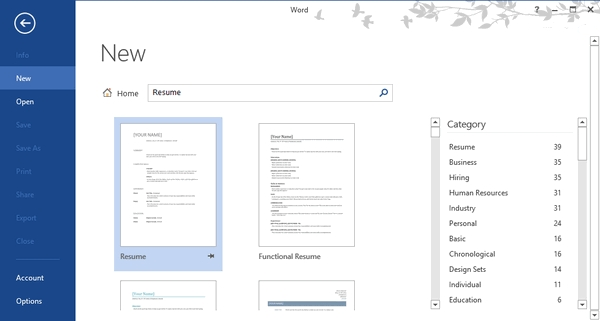 how to create a professional resume using word 2013 geek chips