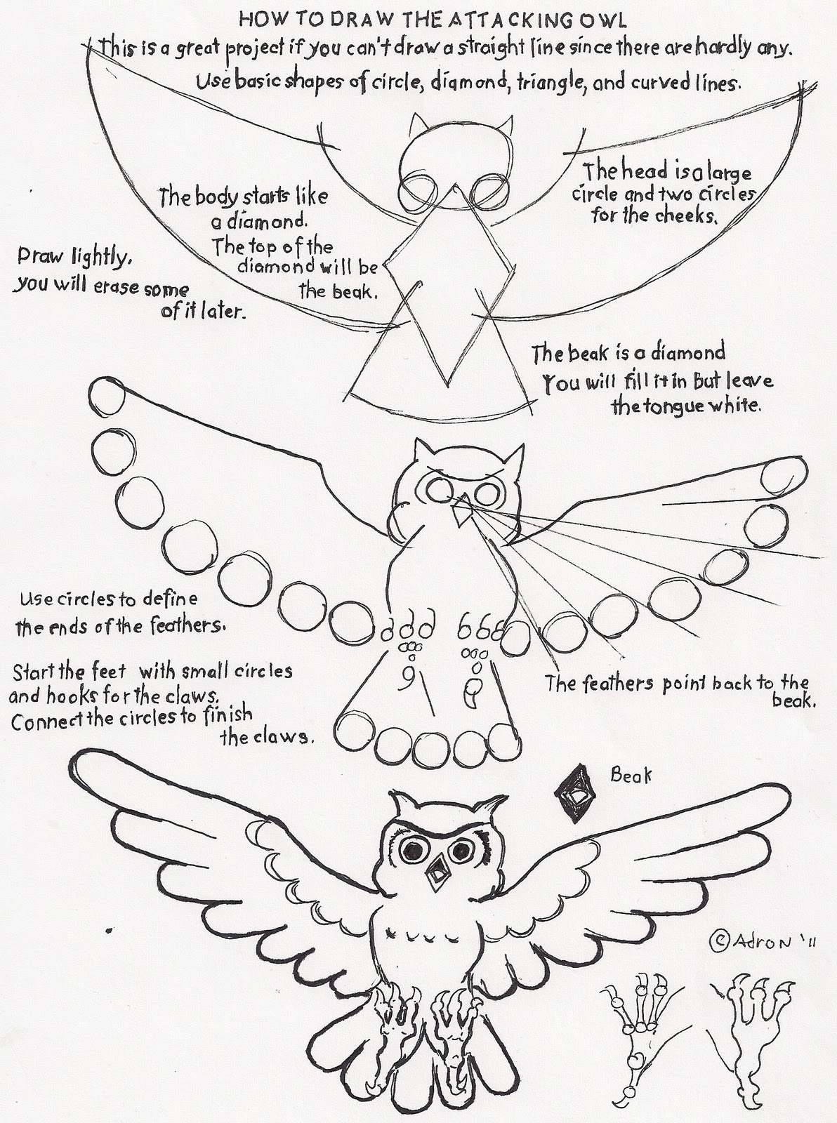 Owl Claws Drawing How to Draw an Attacking Owl