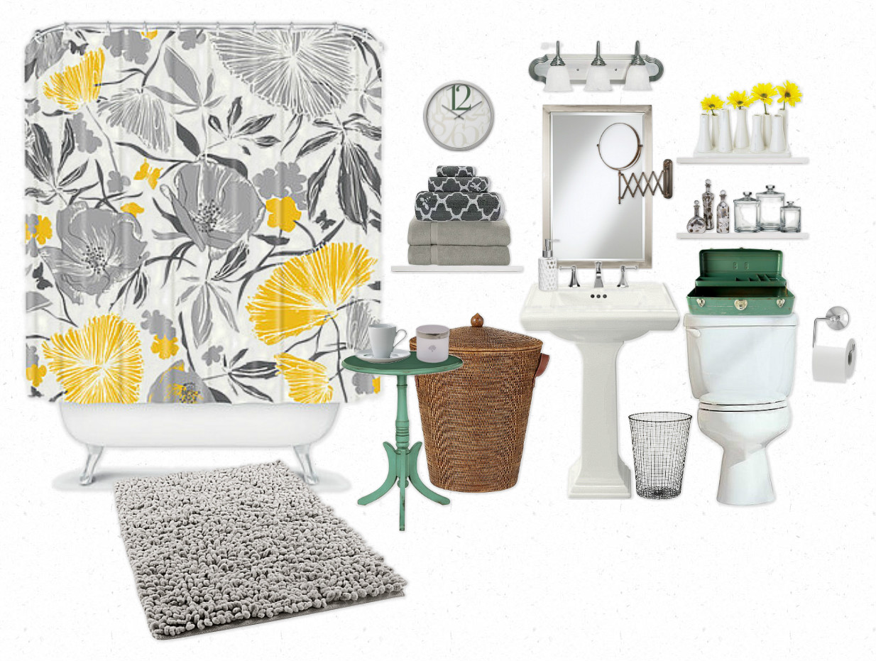 The lovely side be still my heart clawfoot bathtubs for Bathroom decor yellow and gray