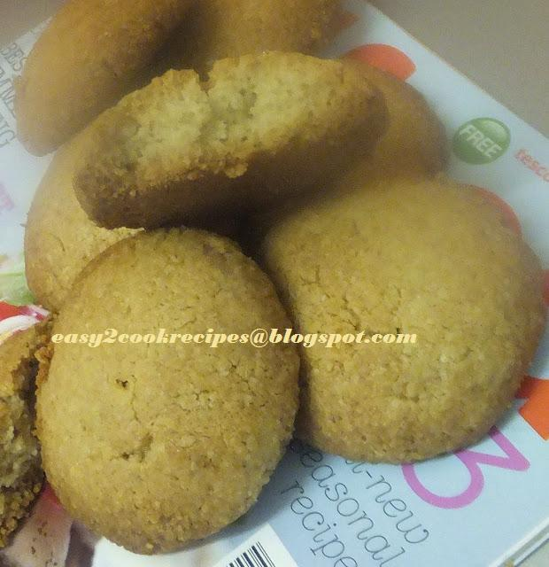 SHAMA'S EASY2COOK RECIPES: OATS HONEY BISCUITS/COOKIES