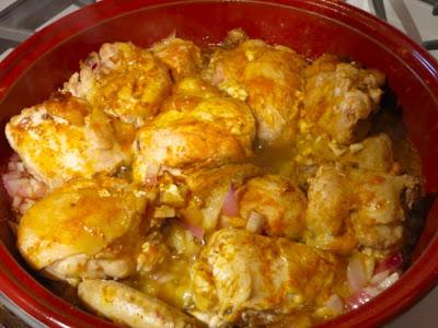 Тажин из курицы с черносливом