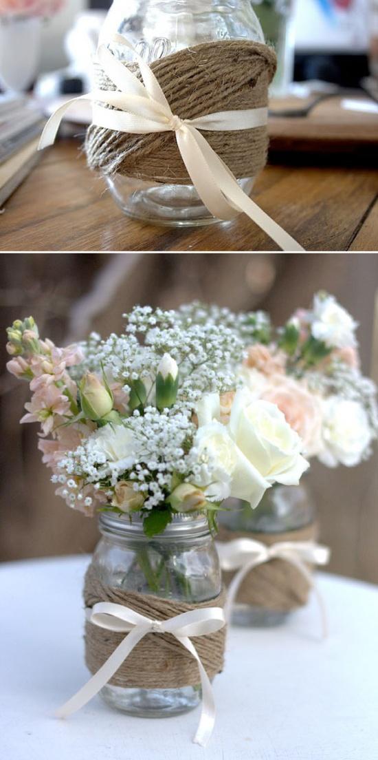 decoracao casamento juta:Coisas da Lívia: ♥Juta na decoração de casamento
