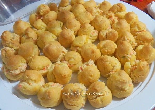 Relleno de pollo para minisandwich mari 39 s cakes - Profiteroles salados rellenos ...