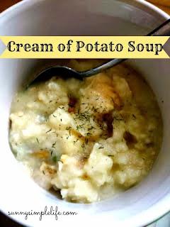 creamy soup, cream of potato soup