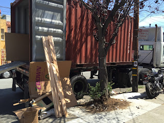 Photo of 20-foot cargo container on a truck
