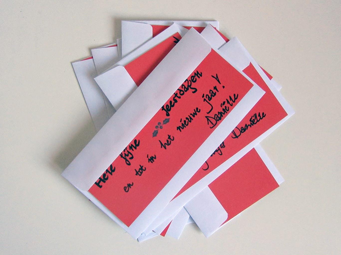 written message on flip side of christmas card 2014