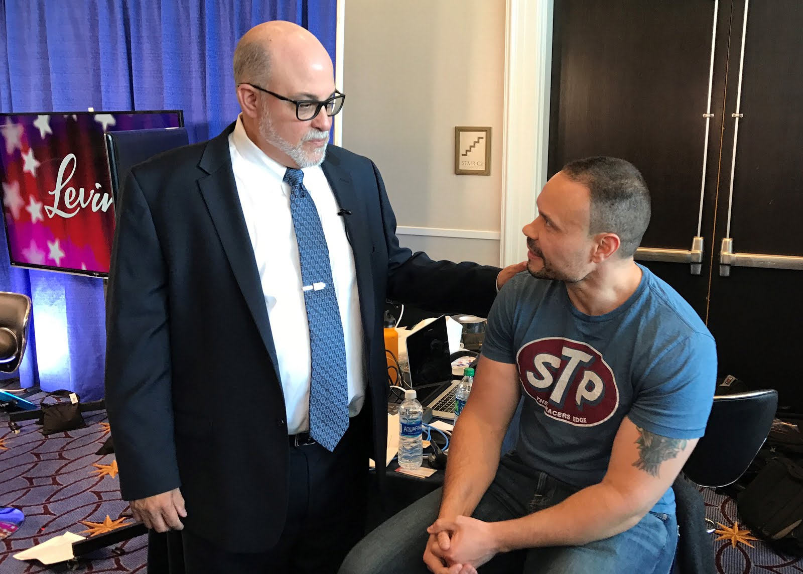Right Bull writer Andy Cruz meeting a hero Mark Levin