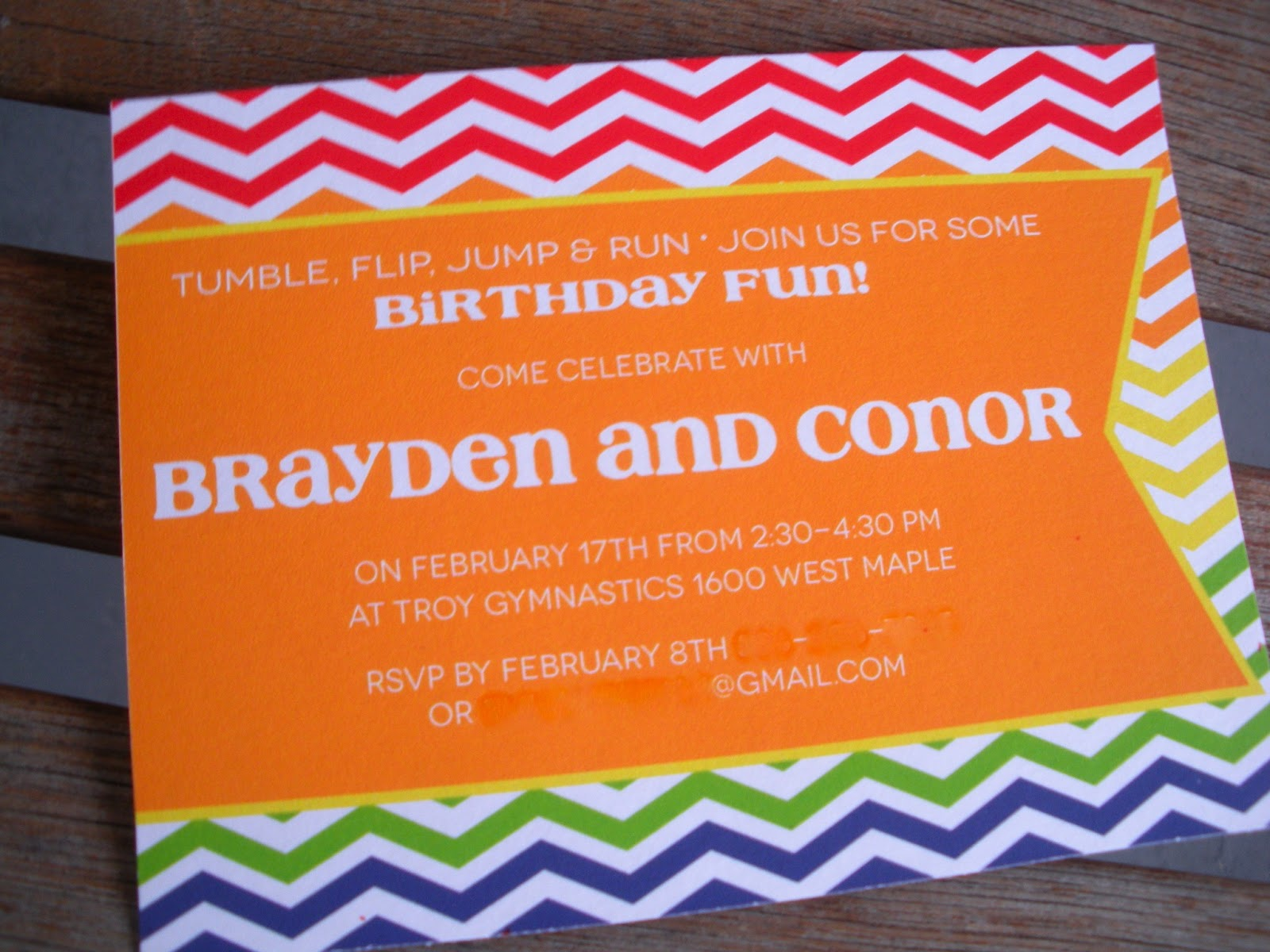 Vivian Elle Invitations: Brayden and Conor\'s Birthday Party Invites