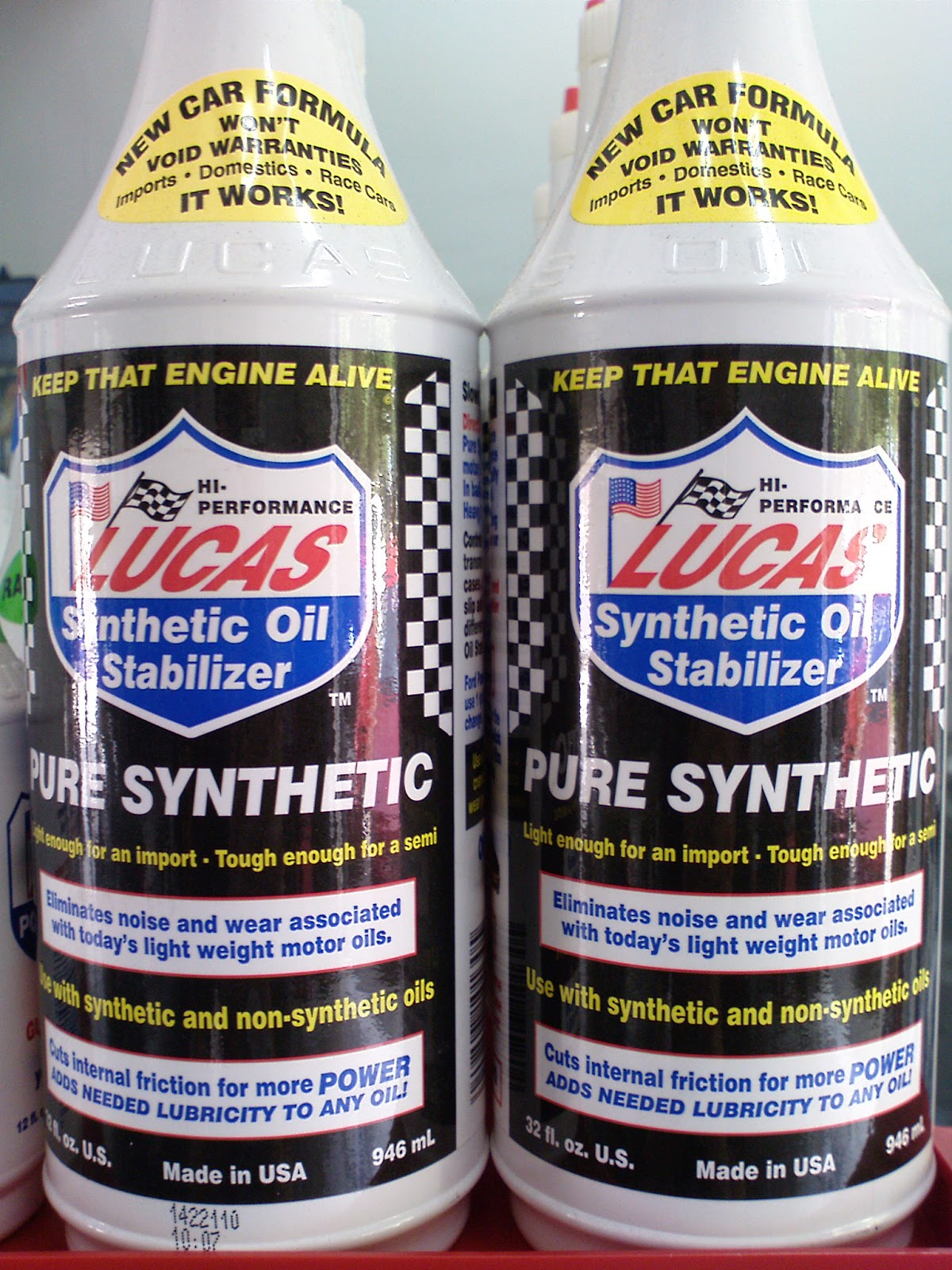 Undercoverproject lucas oil products available autozone for Autozone synthetic motor oil