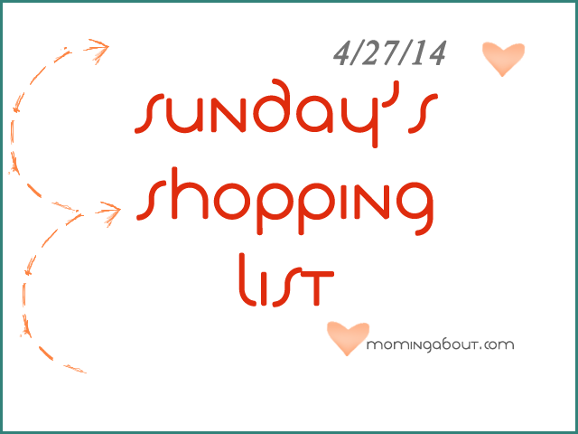 Sunday's Shopping List