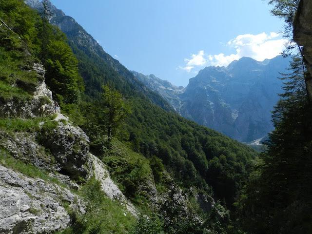 Sentiero della valle Zadnjica