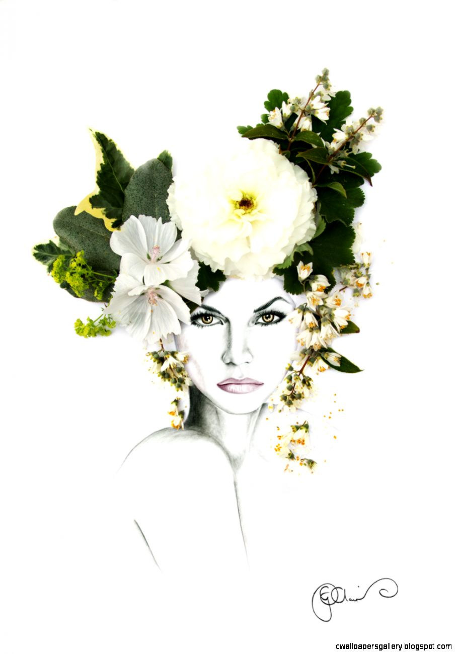 Three Flower Crown Illustrations to Inspire   Georgie St Clair