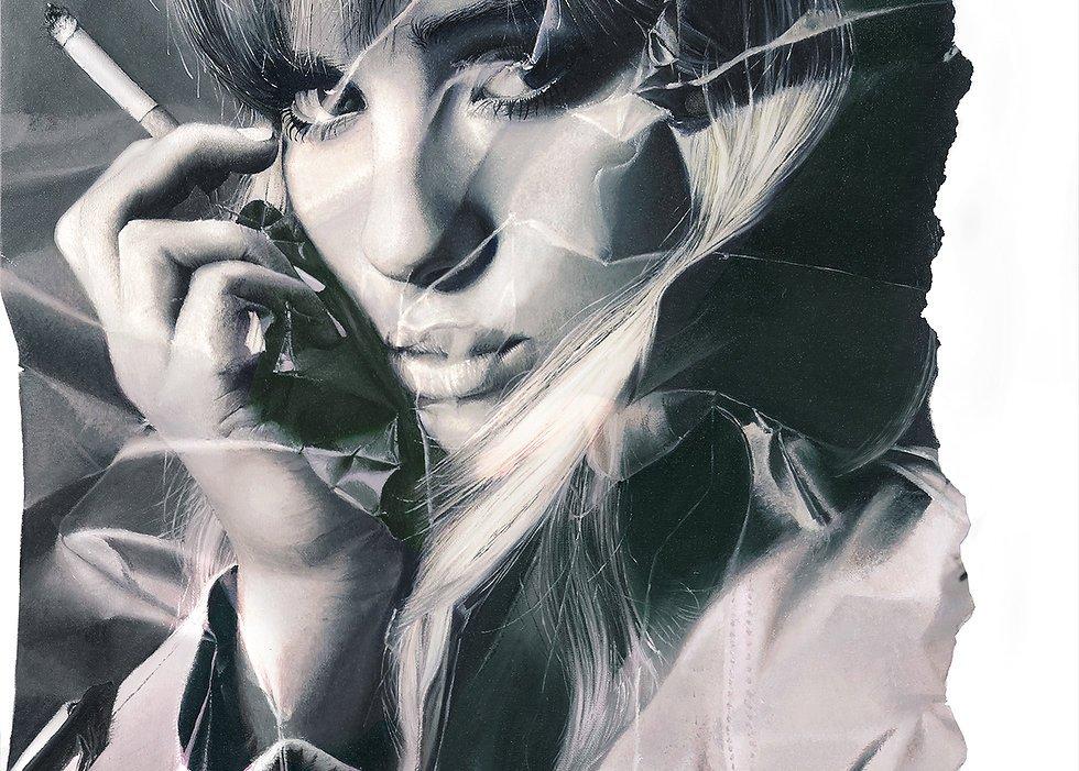 nuncalosabre.Las Asombrosas Pinturas Arrugadas de ©Stefania Fersini