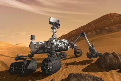 curiosidad en marte, vista 360 grados
