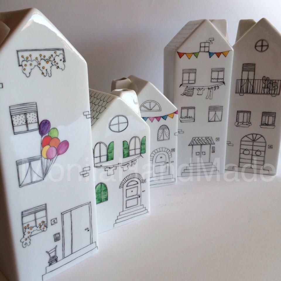 Monila Handmade,porcellana,dipinto a mano,vaso,casa,Home
