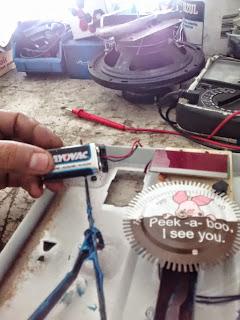 bateria da balança descarregada