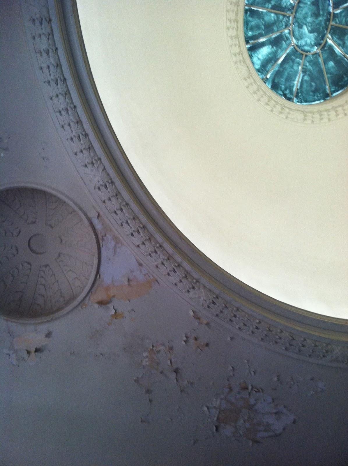 Boston Public Library peeling paint