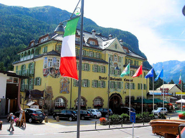 The charming Hotel Dolomiti Canazei, built in 1909, harkens back to the days when the Dolomites belonged to the Austria-Hungary Empire.