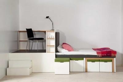 dormitorio espacios pequeños