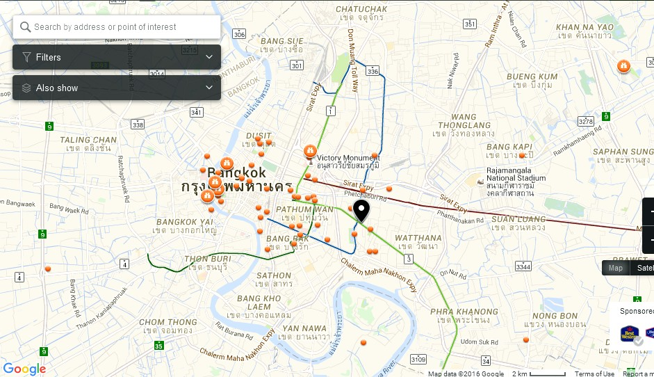 Exchange Tower Bangkok Map Tourist Attractions in Bangkok – Tourist Attractions Map In Colorado
