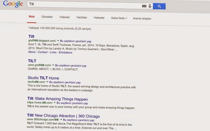 Google Arama Sayfanız Yan Yatsın
