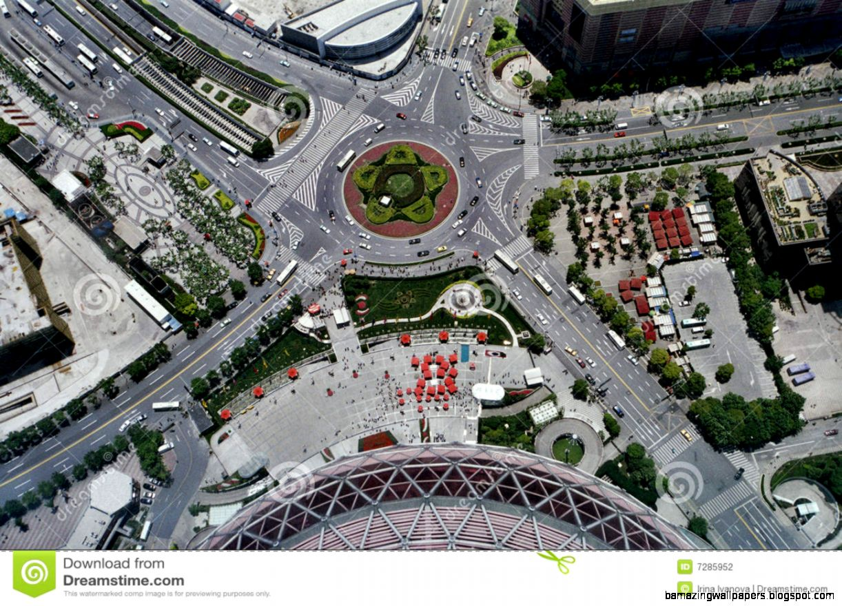 Aerial View Of A Road Intersection Stock Photography   Image 7285952