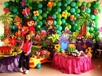 Fiestas infantiles decoraci n dora la - Como hacer una fiesta infantil economica ...