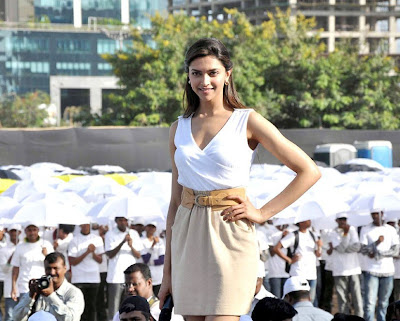 Deepika Padukone hot White Top at Neutrogena Event Pics