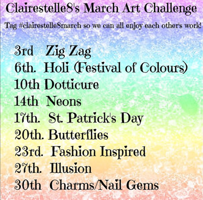 March 2015 Nail Art Challenge