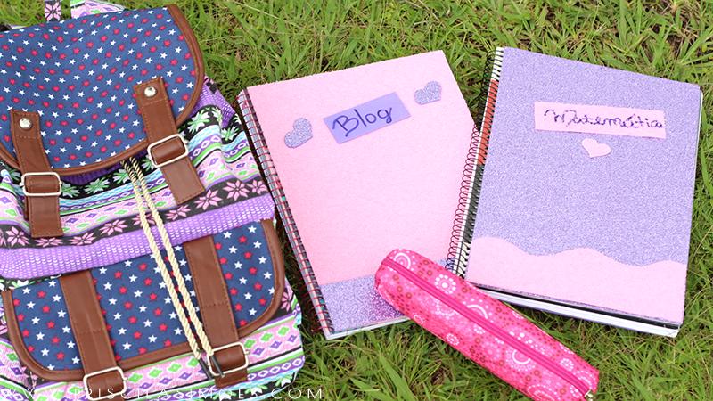 como personalizar capas de cadernos