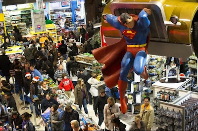 Superman at Times Square Toys-R-Us