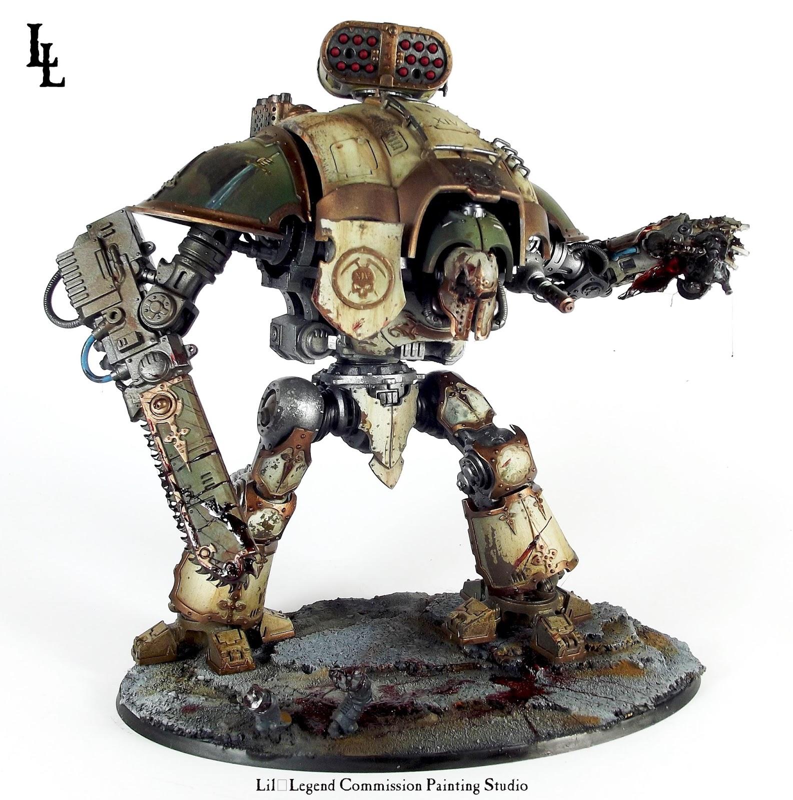 Fallen Angel - Deathguard Knight Titan Gallant - Spikey Bits