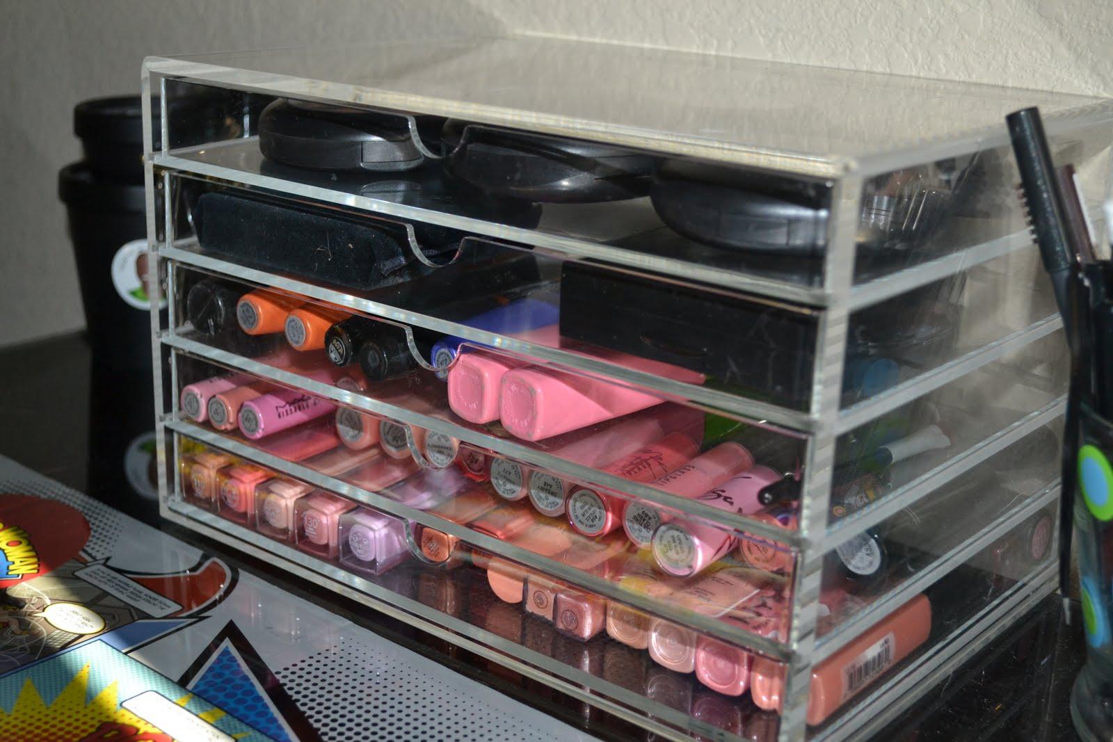 acrylic makeup organizer drawers muji mugeek vidalondon