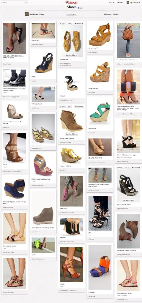 my shoes Pinterest board