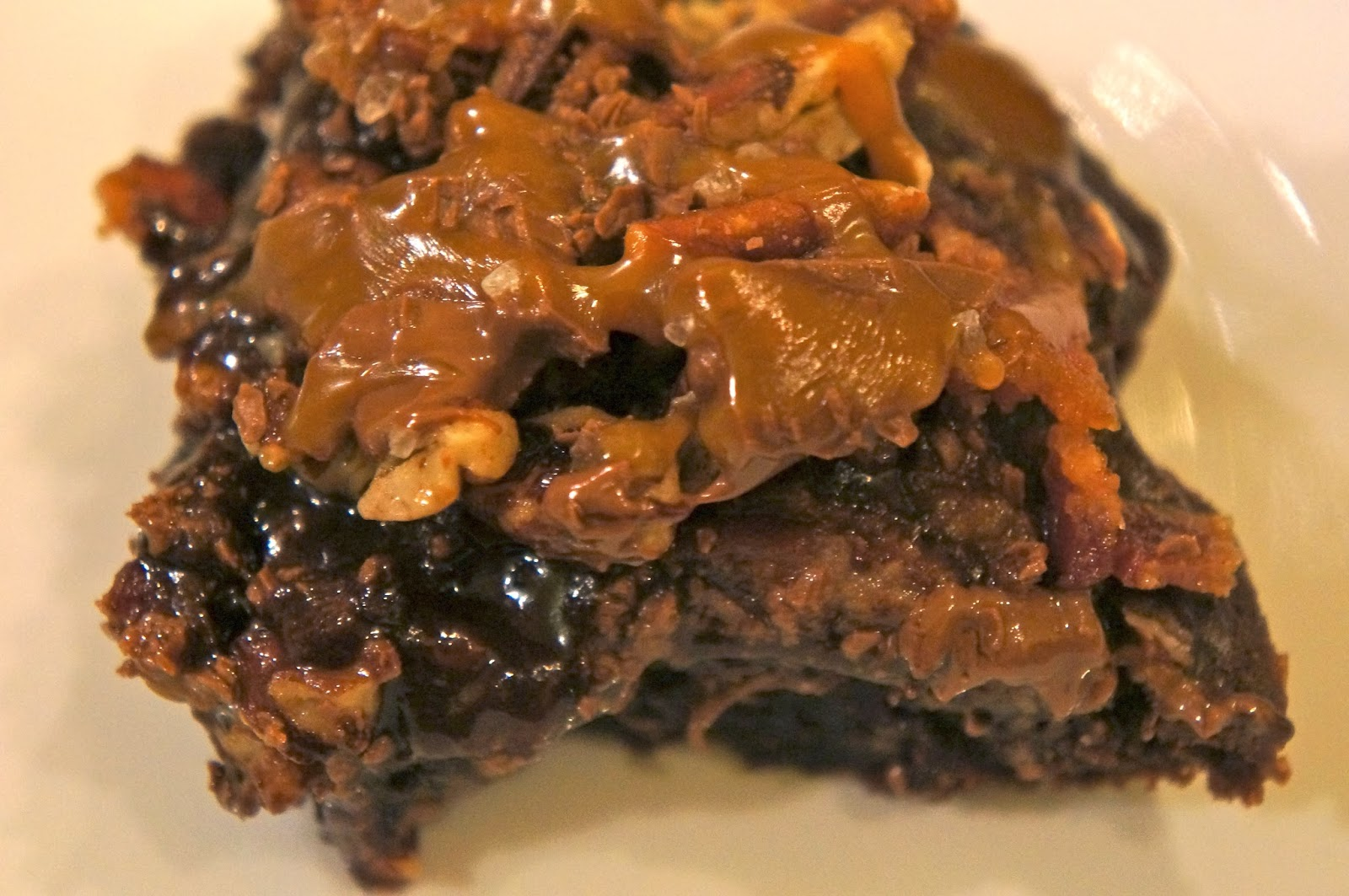 Brownies With Bourbon Caramel Frosting Recipes — Dishmaps