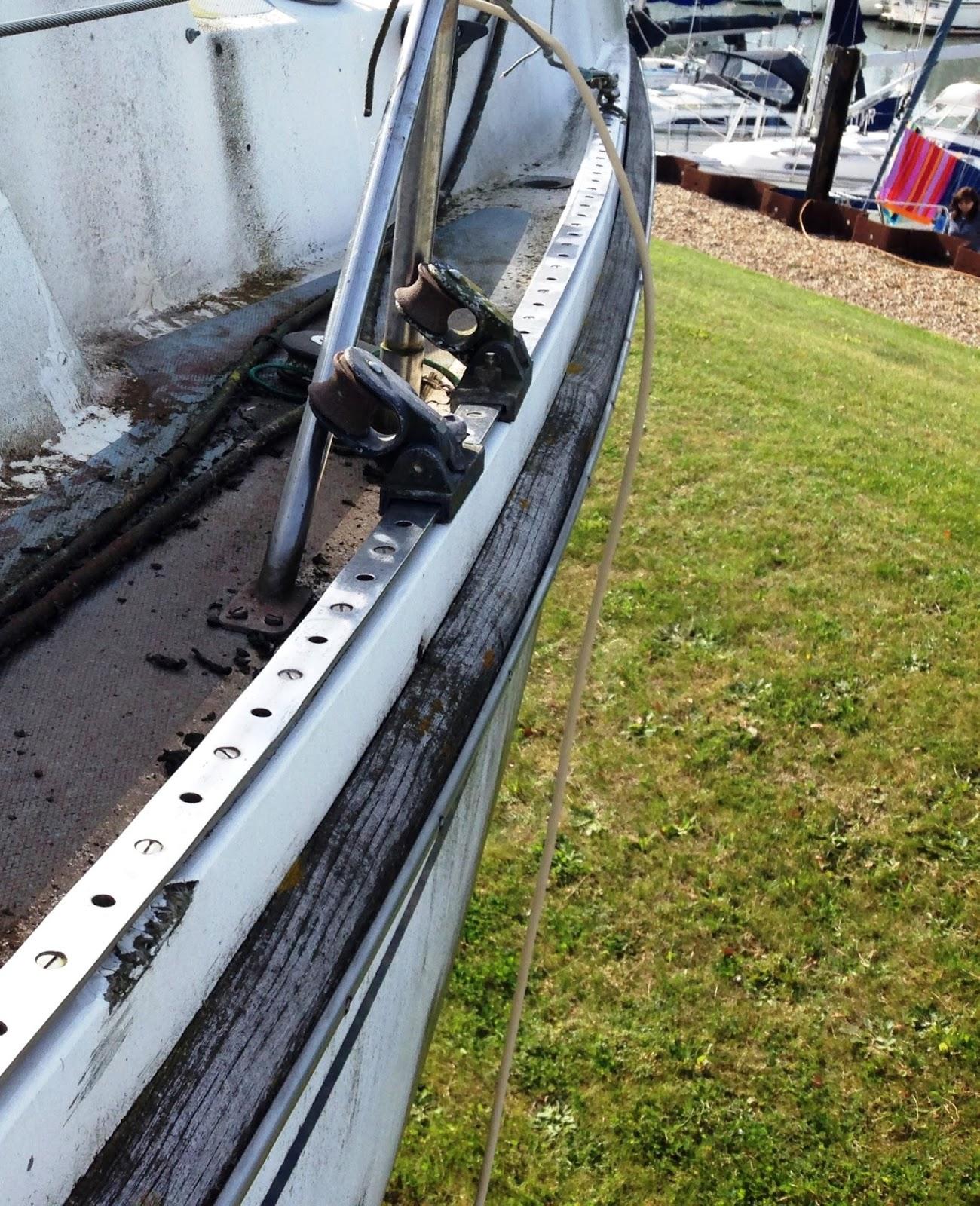 Diy Boat Restoration Blog Teak Rubbing Strake Renovation