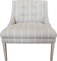 custom made to order in Sydney this Esquire chair is upholstered in 100% Belgium Linen